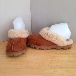 UGG Women's Coquette Sheepskin Clog Slippers